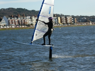 windfoil west kirby marine lake, starboard foil, surfbent, gybe, windy
