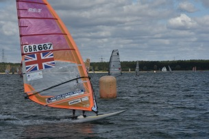 windsurf, rutland, rsx olympic class, windy, GBR667, grafham water