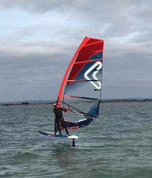 hayling island, windsurf, windfoil, severne sail, wavy, windy, cold