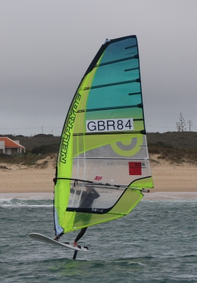 Jen windfoil vilamoura, portugal, windsurf, neilpryde convertable, waves